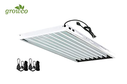 Indoor Garden Lamp Amazon grow co t5 4 ft 8 lamp fluorescent fixture 6500k ho t5 4 ft 8 lamp fluorescent fixture 6500k ho bulbs included for hydroponic workwithnaturefo