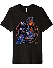 Marvel Avengers Infinity War Neon Team Graphic T-Shirt
