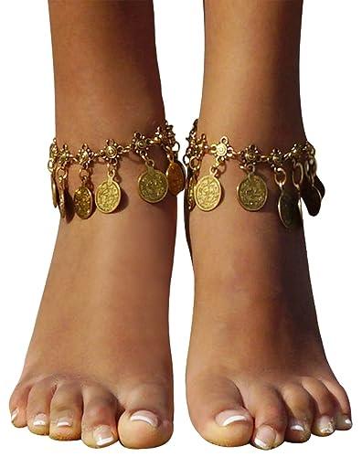 Bienvenu Vintage Coin Ankle Bracelet Tassel Gypsy Festival Beach Bohemian  Anklet 4a70e2d6c3bb