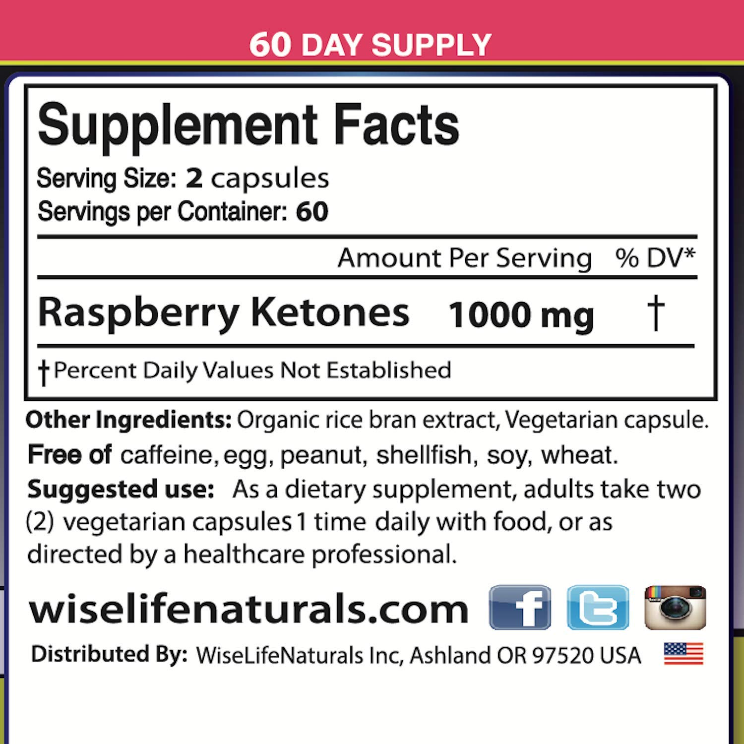 Best Fast Metabolism Slimming Pill - Pure Raspberry Ketones Fresh 1000mg Plus Max Burn, Lose Fat Quickly Proven Supports Rapid Ketogenic Diet Weight Loss, Works Naturally, Slim at Home No Side Effects by WiseLifeNaturals (Image #6)