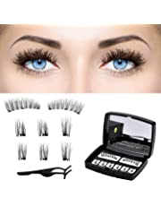 d60e21a2a0 Magnetic Eyelashes 3D False Eyelashes Full Eye Magnetic Fake Lashes with  Mirrow and Tweezers for Natural