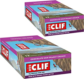 product image for CLIF BAR - Energy Bars - Chocolate Chip Peanut Crunch Protein Bars - (2.4 oz Bars, 12 Count, 2-Pack) - Packaging May Vary