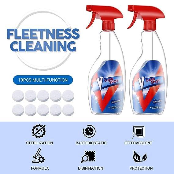 10 unids multifuncional efervescente limpiador en aerosol multiusos limpieza de la cocina efervescente limpiador en aerosol: Amazon.es: Bebé