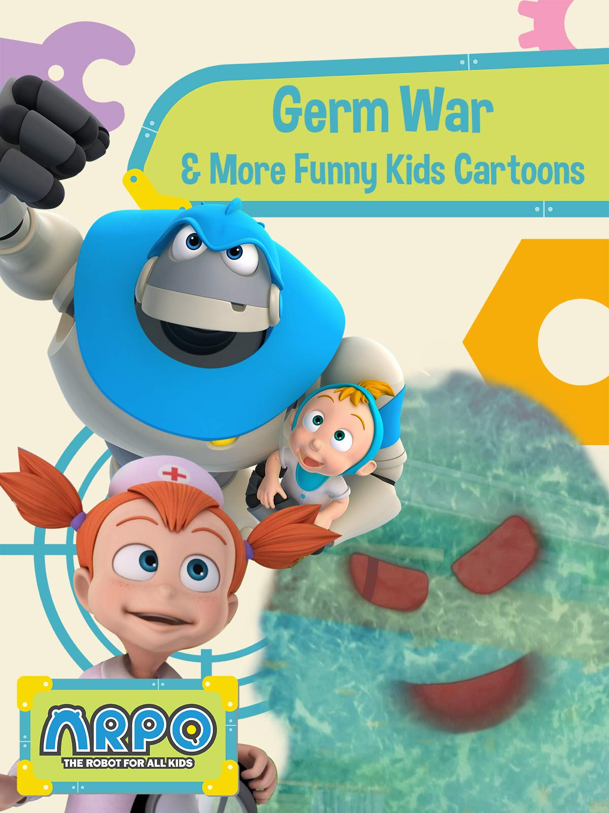 Arpo the Robot for All Kids - Germ War & More Funny Kids Cartoons