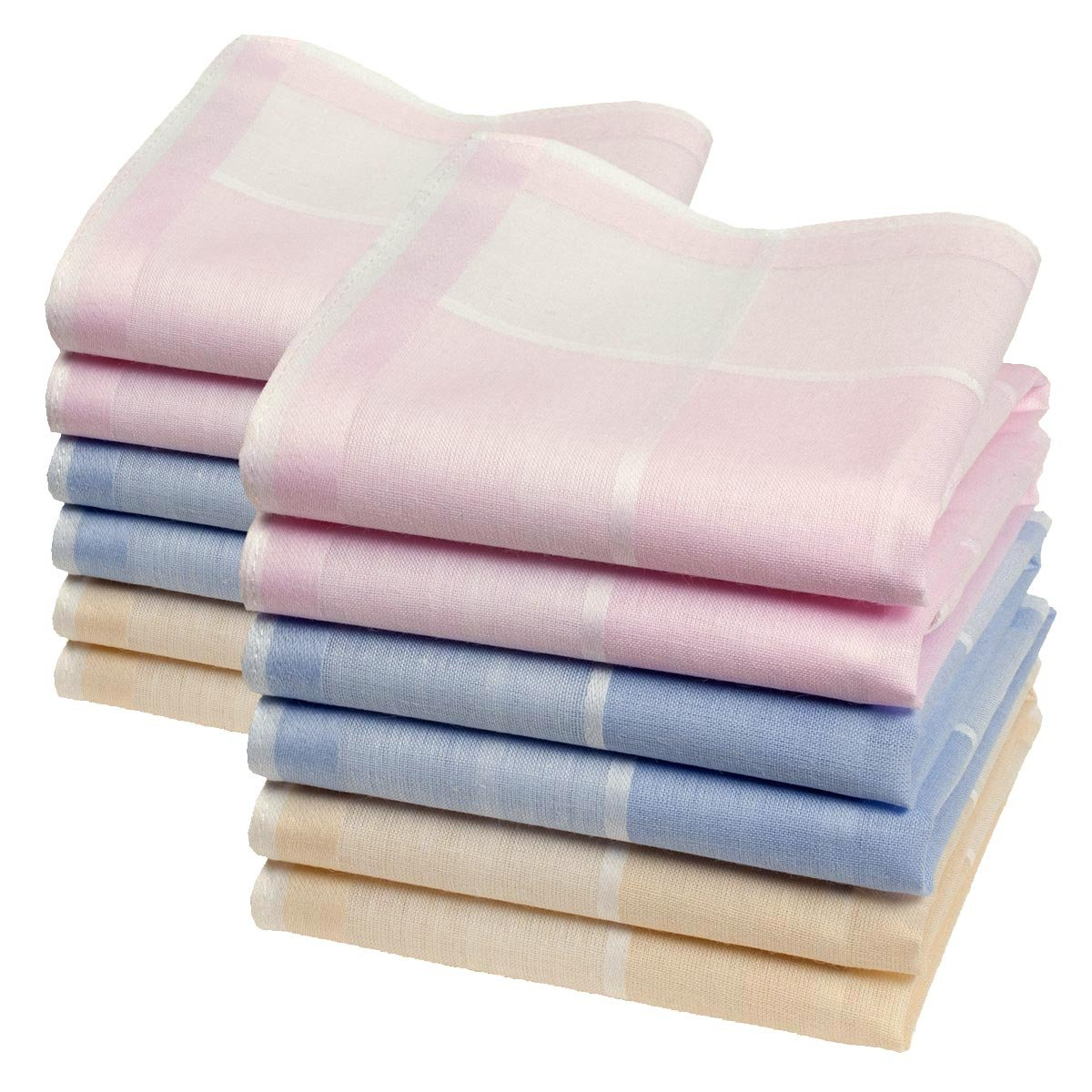 """""""Suzon"""" ladies' handkerchiefs - 12"""" square - 6 units Merrysquare"""
