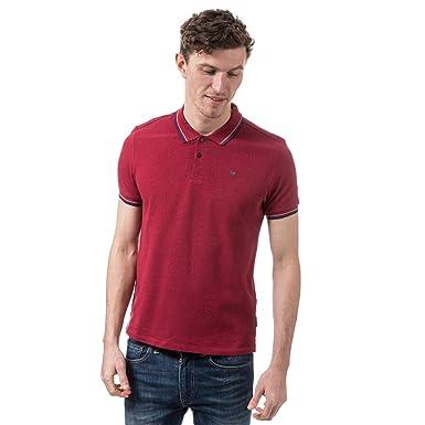 Ben Sherman - Polo - para Hombre Rojo Chilli Marl XXX-Large ...