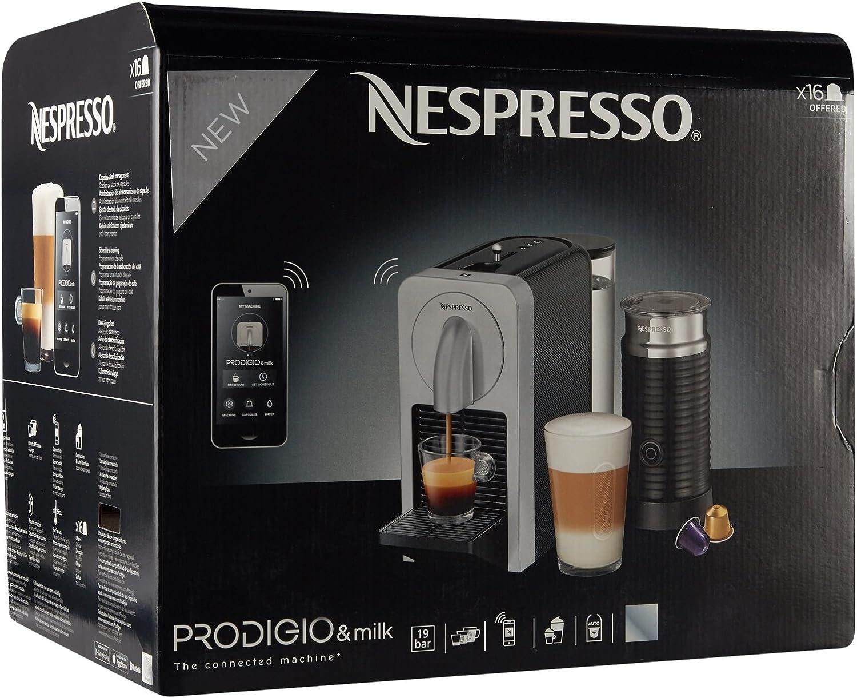Nespresso Bluetooth Prodigio Smart Coffee Espresso 19 Bar Maker Machine Silver