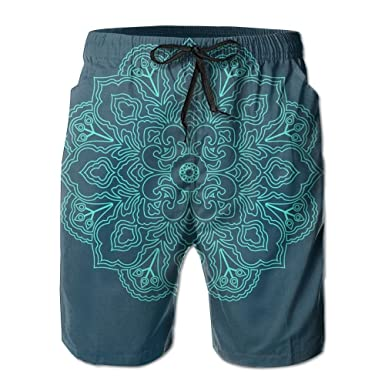 f0e5e68f40 Kurabam Beach Shorts, Indian Mandala Lotus Miami Cute Shorts for Men Boys,  Outdoor Short Pants Beach Accessories at Amazon Men's Clothing store: