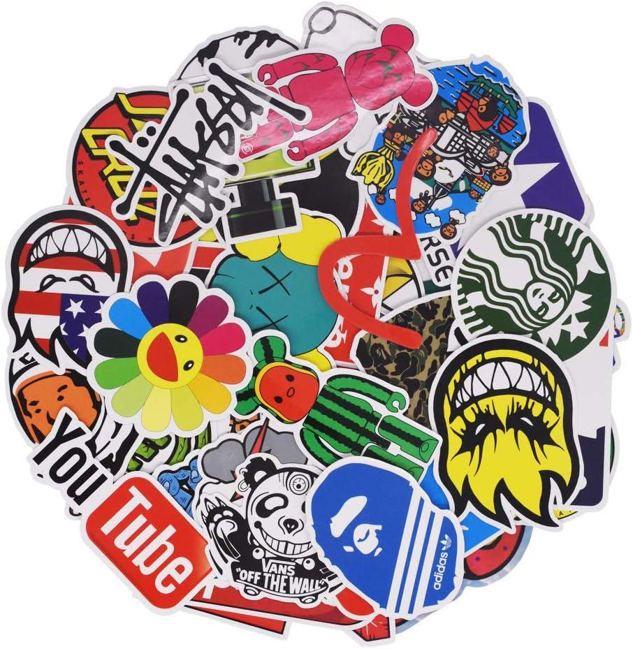 Cool Brand Logo Stickers Pack for Teens Kids Water Bottle Laptop Computer Skateboard Snowboard Helmet Stickers Vinyl Waterproof Bulk Tot Pack 100PCS