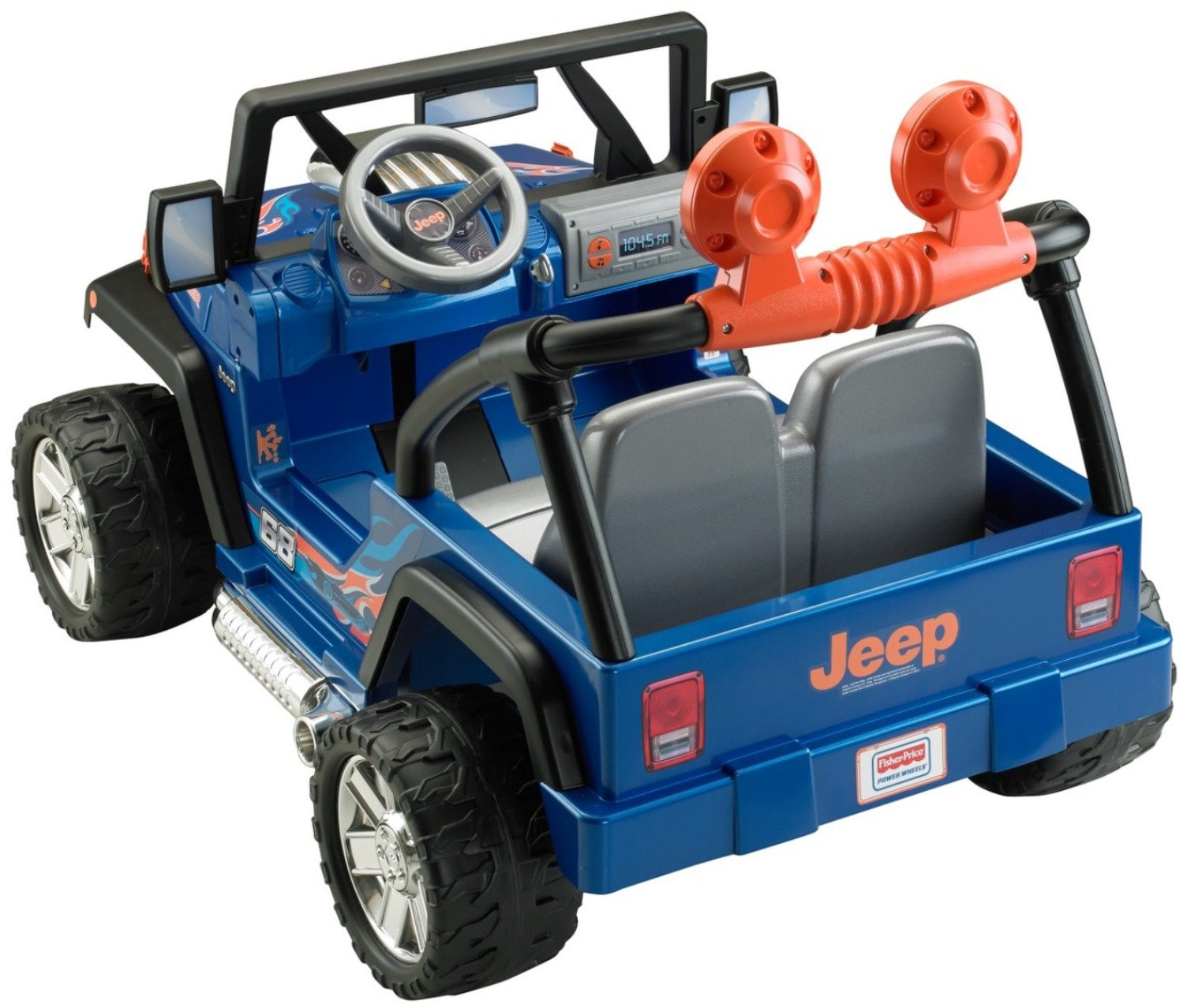 Power Wheels Hot Wheels Jeep Wrangler, Blue (12V) by Power Wheels (Image #7)