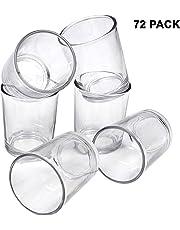 BELLE VOUS Portavelas Votivo de Cristal Transparente - 6,5cm de Alto para Hacer Velas, Soporte Vela de Te - Candelero, Aromaterapia, Bodas, Regalos de Fiestas y Decoración del Hogar