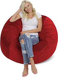 Chill Sack Bean Bag Chair: Giant 4′ Memory Foam Furniture Bean Bag
