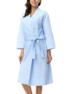 Glamptex Supreme Waffle Bath Robe Ladies Mens White Lightweight ... 0c945625f