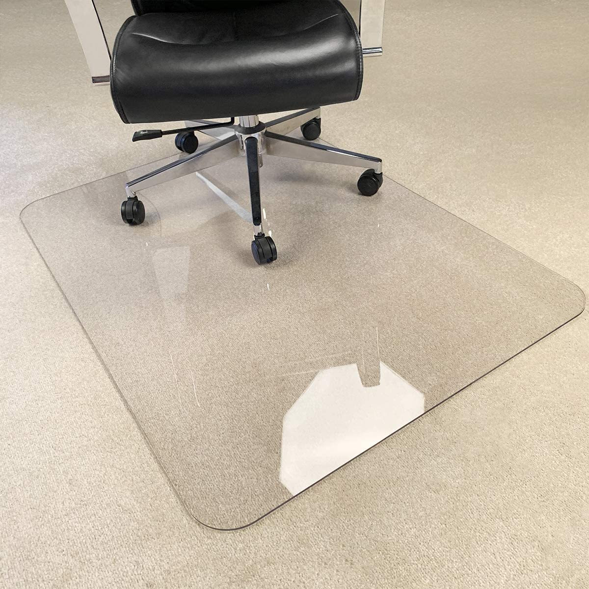 """[UpgradedVersion] Crystal Clear 1/5"""" Thick 47"""" x 40"""" Heavy Duty Hard Chair Mat, Can be Used on Carpet or Hard Floor : Office Products"""
