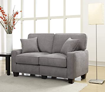living room furniture amazon. Serta RTA Palisades Collection 61 quot  Loveseat in Glacial Gray Amazon com