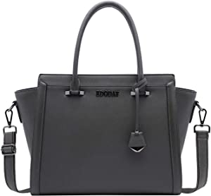 Laptop Bag for Women, 15.6 Inch Multi-Pocket Water Resistant Laptop Briefcase Versatile Work Tote Bag for School/Business/Travel/Shopping[L0016/Darkgray]