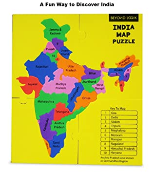 Buy beyond logik synthetic fun learn educational india map foam buy beyond logik synthetic fun learn educational india map foam puzzle toy multicolour bl fp01 online at low prices in india amazon gumiabroncs