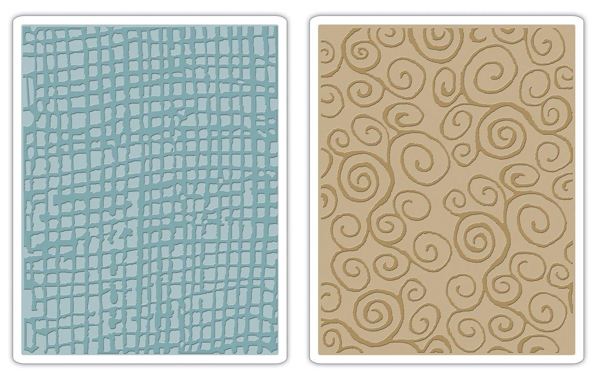 Sizzix texture Fades goffratura cartelle 2PK–Burlap & Turbinii set di Tim Holtz Ellison 656645