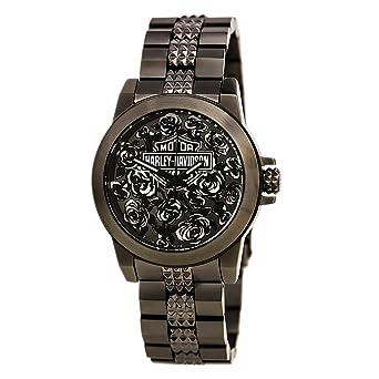 Amazon.com: Harley-Davidson Wo's Bulova Rose Faced Wrist Watch ...