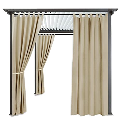 RYB HOME Pergola Outdoor Drapes - Fade & Mildew Resistant Blackout Patio Outdoor  Curtains Outside Décor - Amazon.com : RYB HOME Pergola Outdoor Drapes - Fade & Mildew