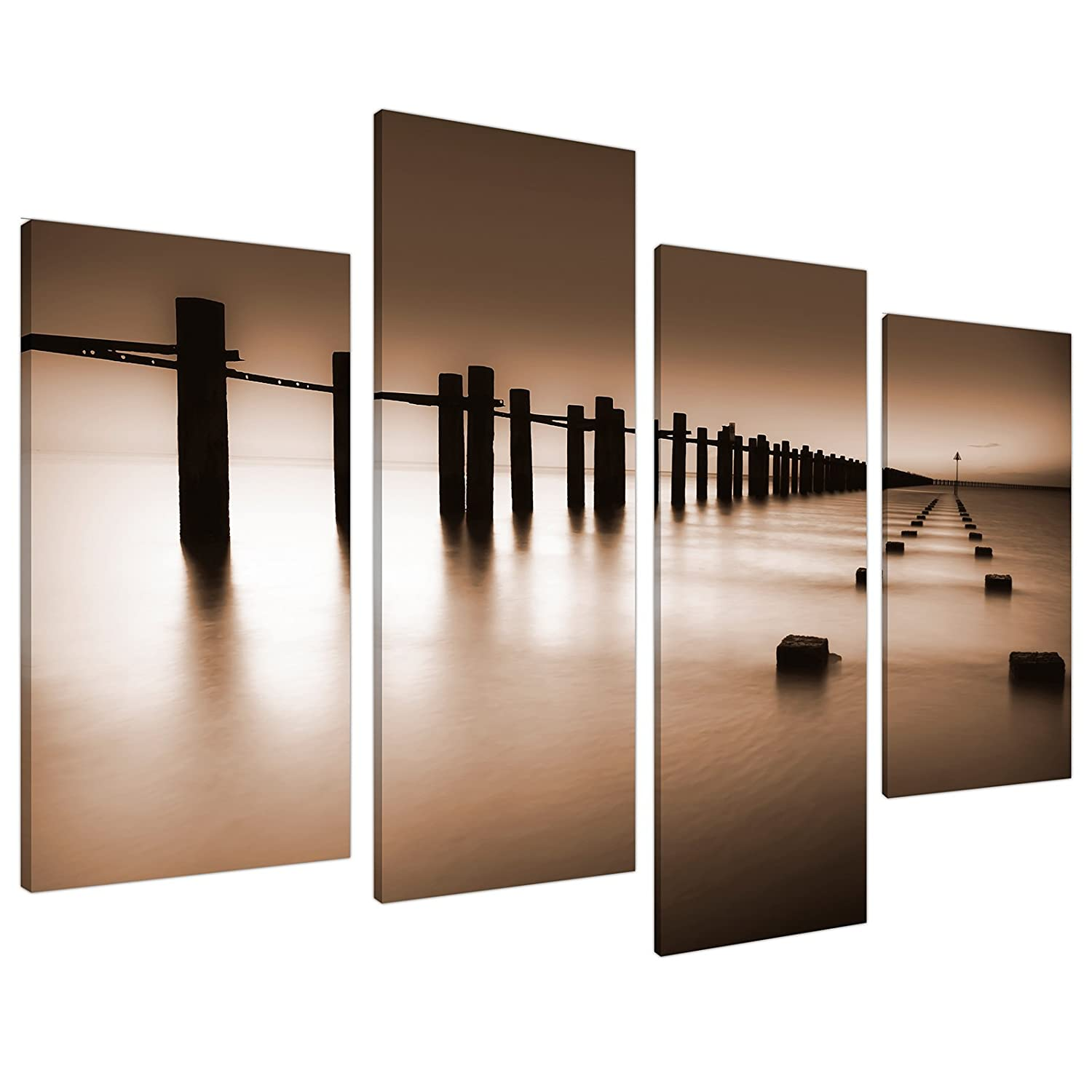 Large Brown Living Room Landscape Canvas Wall Art 130cm Pictures 4088:  Amazon.co.uk: Kitchen U0026 Home Part 41