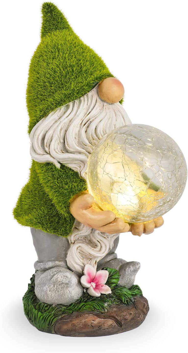 Solar Light Garden Gnome Cute - Waterproof Outdoor Decorations - Solar Powered Lights - Auto On/Off for Patio Deck Yard Garden