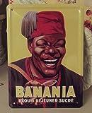 PLAQUE METAL 20X15cm PUB RETRO CHOCOLAT BANANIA EXQUIS