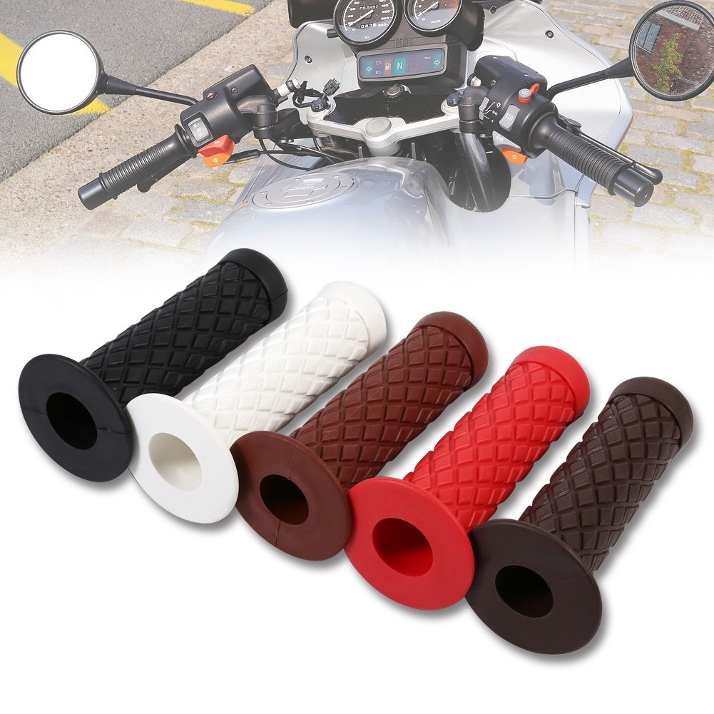 Coffee VGEBY Universal Motorcycle Anti-slip Handlebar Grips 7//8 22mm