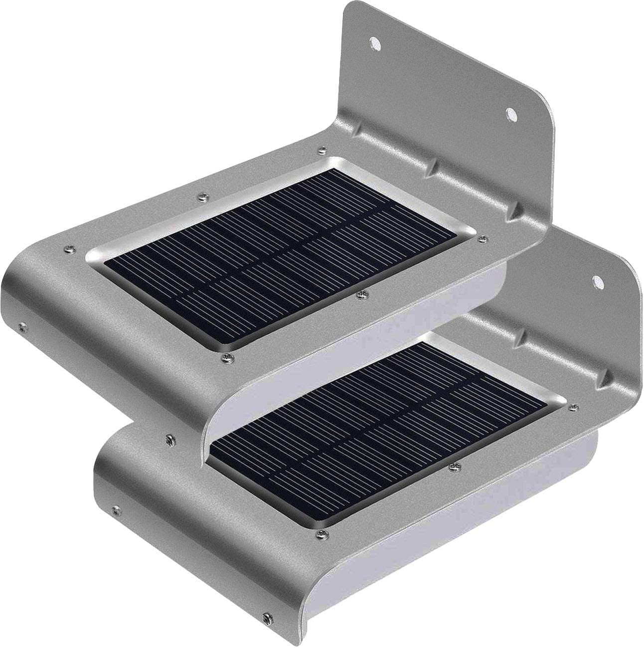 2pcs Solar Lights LED Outdoor Solar Motion Sensor Lights for Garden Patio Path Wall Mount Gutter Fence Light