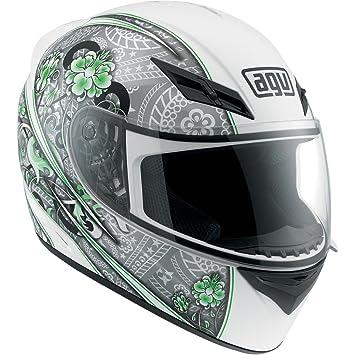 AGV K3 tripulación blanco/plata/lima casco de moto M tamaño mediano