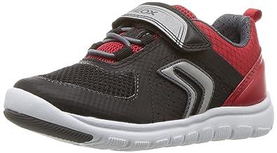1fc5880c68 Geox Xunday BOY 1 Sneaker, Black/red, 32 M EU Little Kid (
