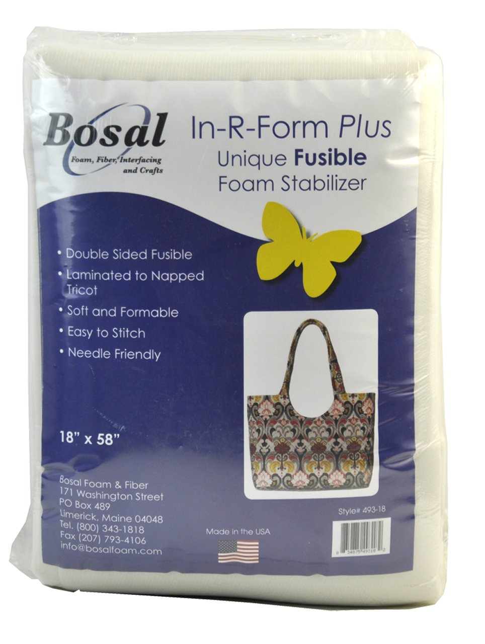BELAGIO Enterprises Bosal-493-18 in-R-Form Double Sided Fusible Packaged Craft Suplies 18 by 58-Inch