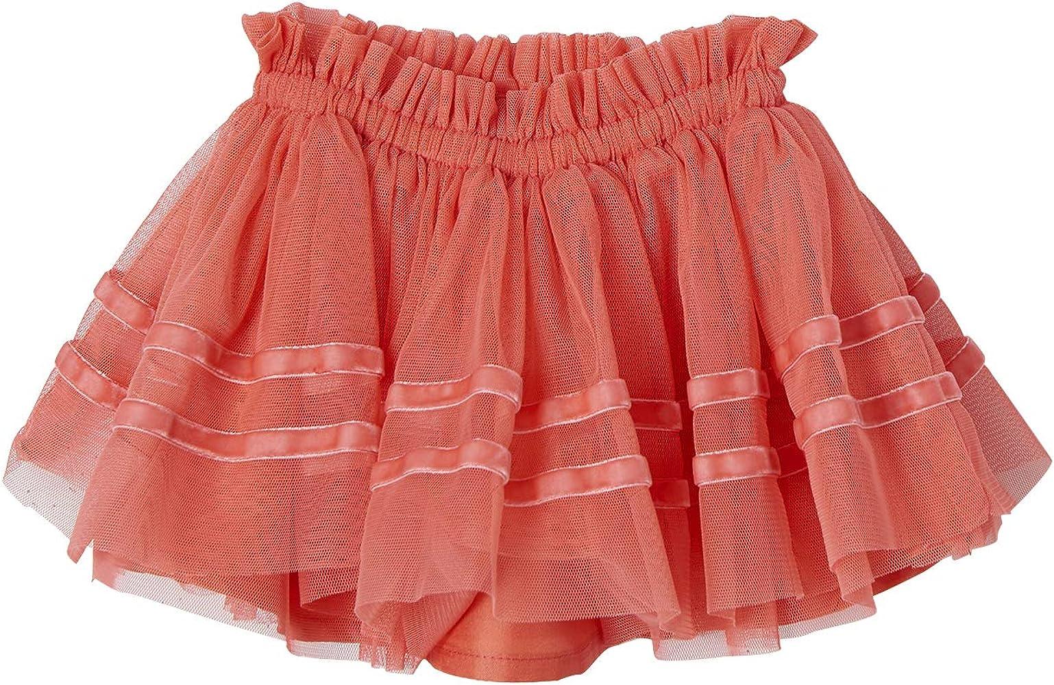 VERTBAUDET Falda Tipo Enagua de Tul para bebé niña Rosa Medio Liso ...