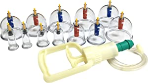 Cupping Set Massage Cups with Pump Self Cupping Vacuum Cupping Set Massage Cupping Set,12PC