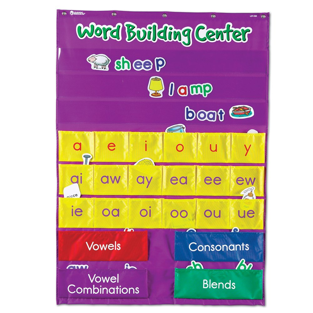 Amazon learning resources word building center pocket chart amazon learning resources word building center pocket chart classroom pocket charts office products nvjuhfo Choice Image