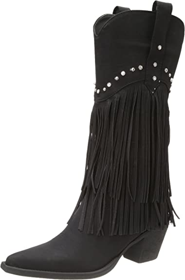 Fringe and Stud Western Boot