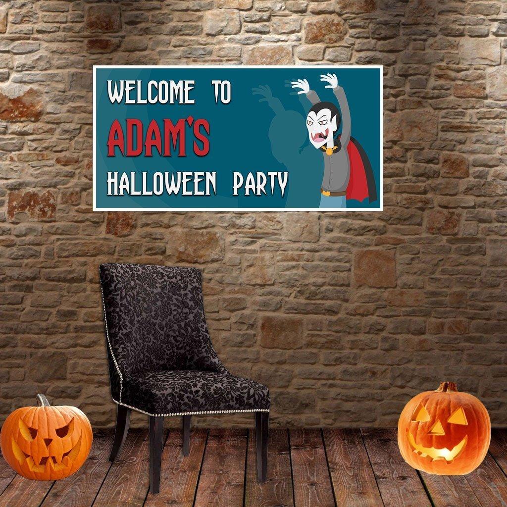 Vampire Halloween Party Banner Backdrop Decoration