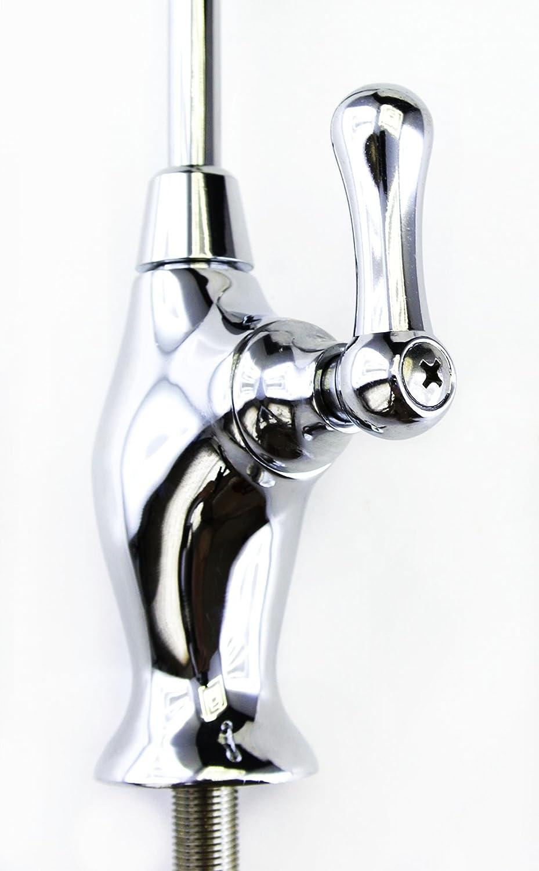 Classic de estilo europeo Compatible con todas las de filtro de agua y sistemas de /ósmosis inversa De largo alcance Deluxe de v/álvula de cer/ámica para grifo de cuarto de vuelta