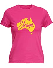 123t Funny Tee - Straya - Womens Fitted Cotton T-Shirt Top T Shirt