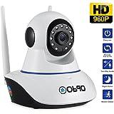 Caméra IP Wifi Obqo Caméra de surveillance Caméras de sécurité sans Fil Avec Microphones Bidirectionnels, Vidéo HD 960P, Détection de Mouvement, Alerte d'information, Moniteur en temps réel