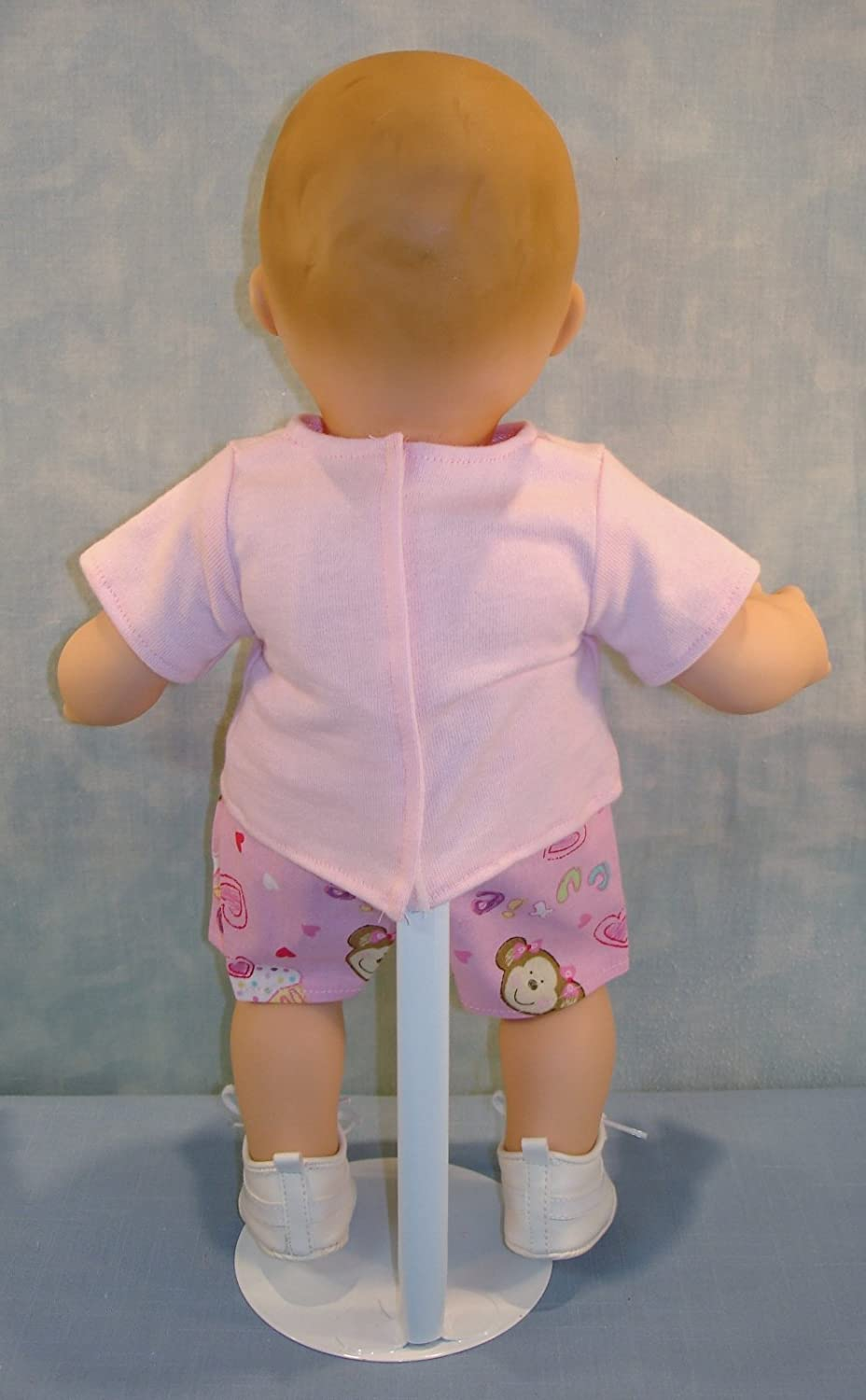 Monkey and Cupcakes Shorts Outfit handmade by Jane Ellen to fit 15 inch baby dolls 15 Inch Doll Clothes