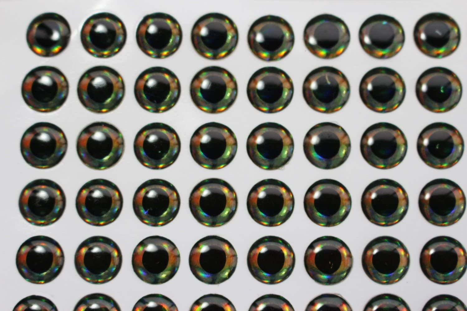 10mm 77pcs 4D fish eyes Realistic Holographic Baitfish Fly Making artificial eye