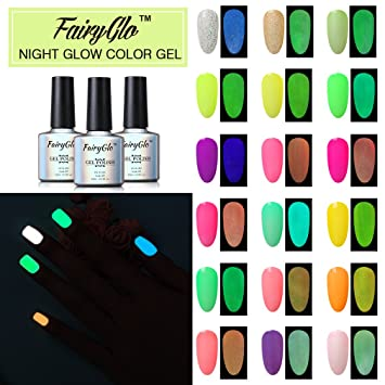 Amazon 24pcs Nail Polish Uv Led Glow In The Dark Dramatic Nail