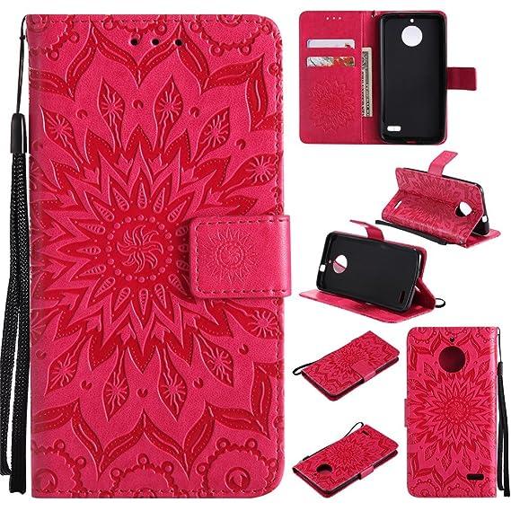 brand new 58494 3efc5 Amazon.com: Moto E4 Wallet Case,IVY [Sun Flower] Moto E4 PU Leather ...