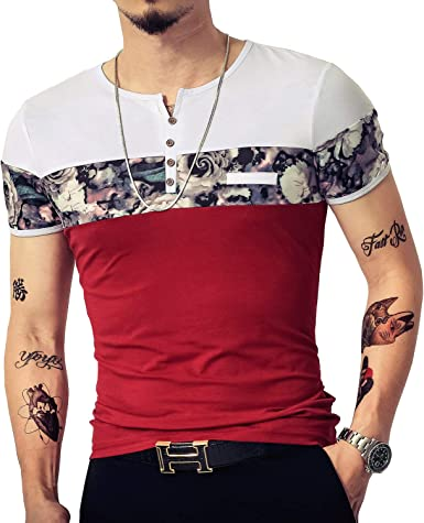 Lelili Men Solid Color Irregular Hem O-Neck Short Sleeve Sweatshirt Summer Casual Loose T-Shirt Pullover