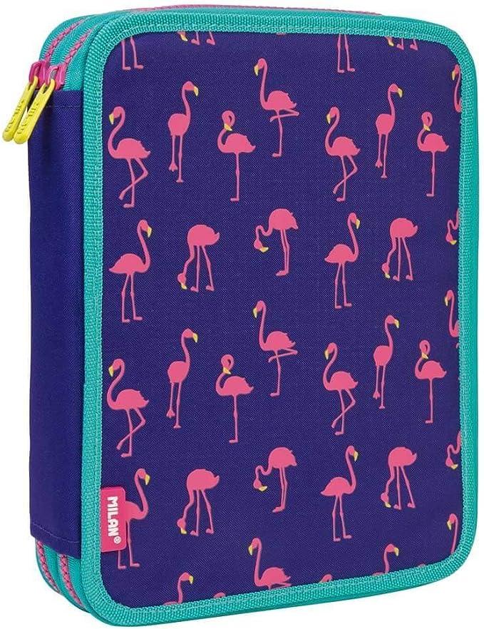 Estuche Milan Flamingos Doble 59 Piezas: Amazon.es: Oficina y papelería