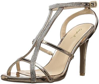 9b494274d Qupid Women s Single Sole Sandal Heeled