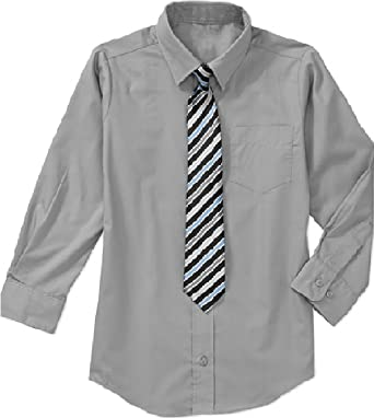 Unbekannt - Camisa - Básico - para niño Gris Gris 32: Amazon.es: Ropa y accesorios