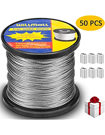"""Galvanized Wire Rope Cable 7x7 200 ft reel 1//8/"""""""