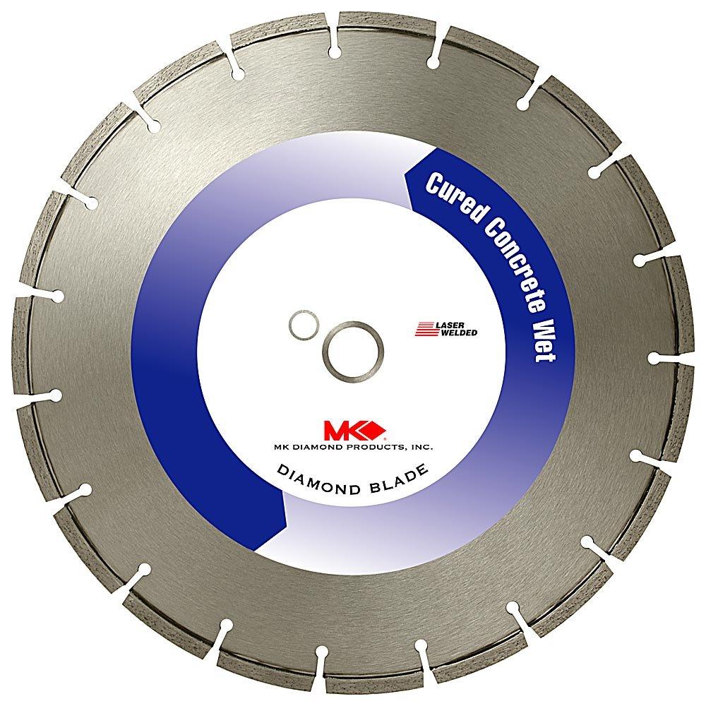 Disco de Diamante MK DIAMOND 139212 MK-500 segmentado de corte en húmedo de 16 pulg. con eje de 1 pulgada para concreto